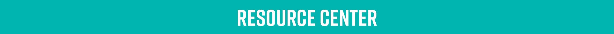 Resource Center banner